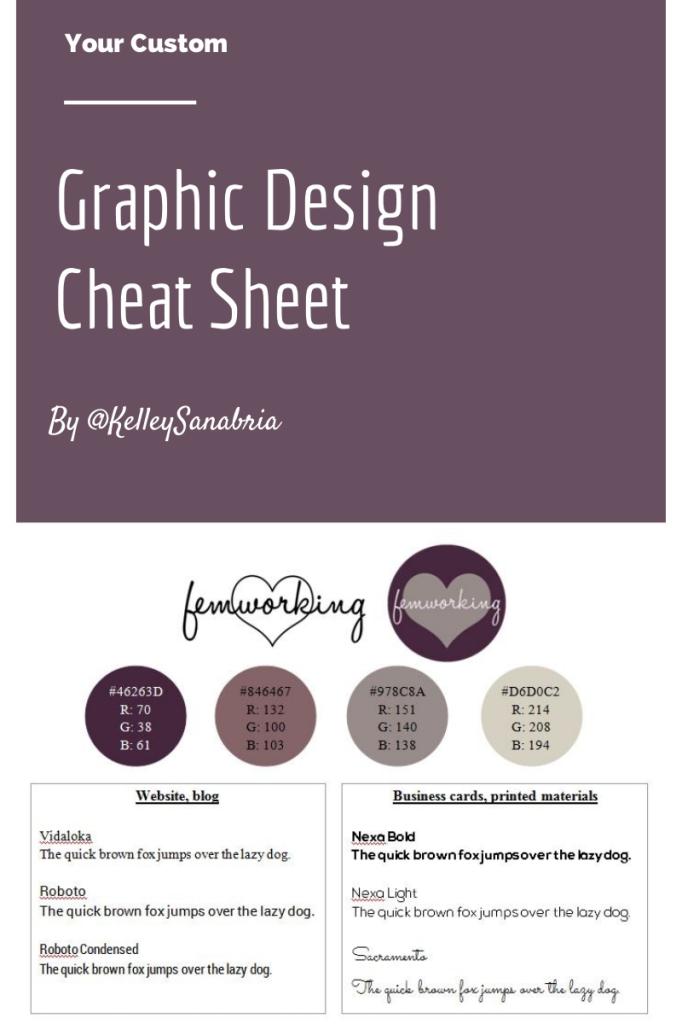 Graphic Design Cheat Sheet