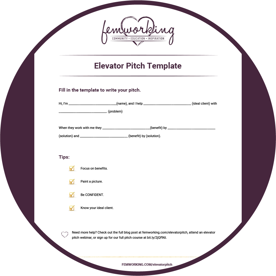 keys to a successful elevator pitch training template your pitch template